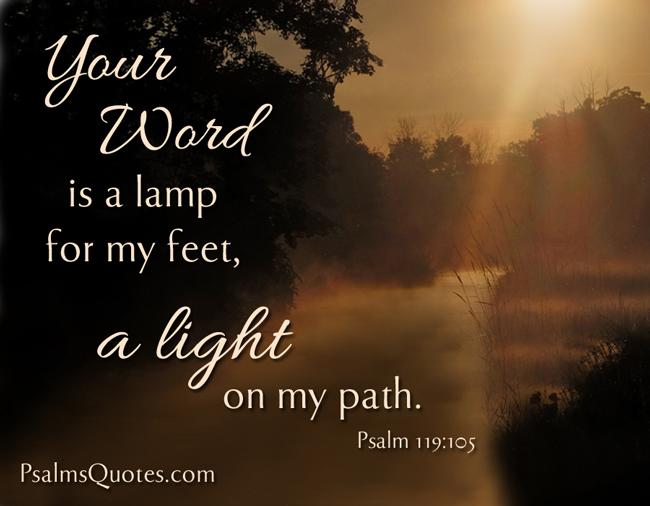Psalm 119 105 Bible Verse Book Of Psalms