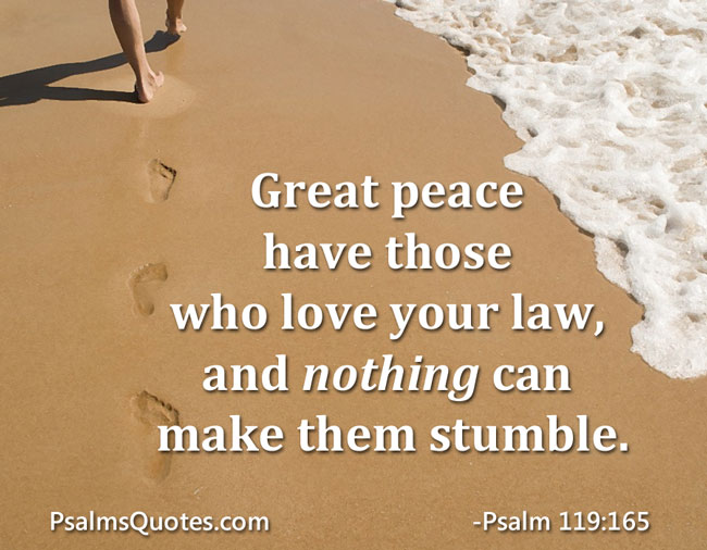 Psalm 119:165 - Psalm about Peace