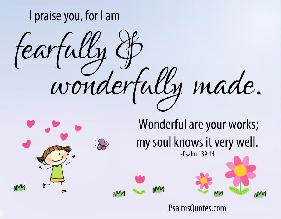 Psalm 139:14 - Bible Verse - Book of Psalms