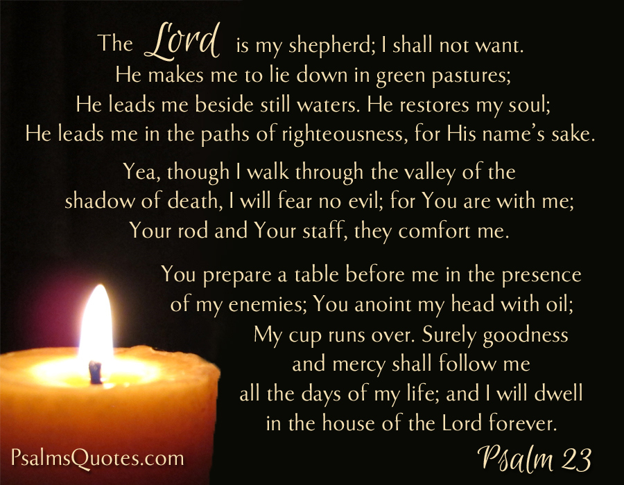 Psalm 23 Book Of Psalms