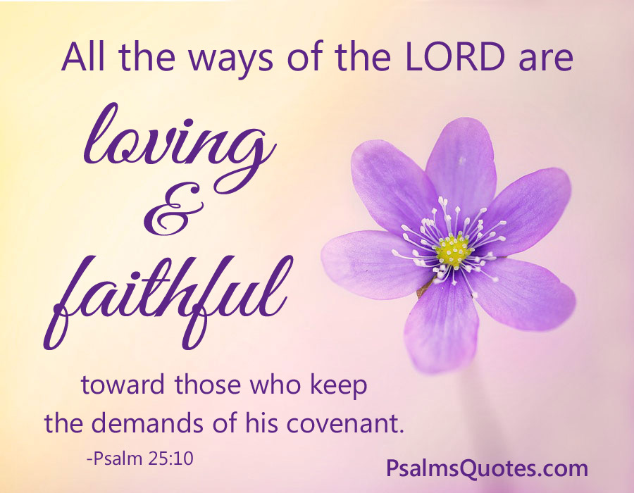 Psalm 25:10 - Psalm about Love