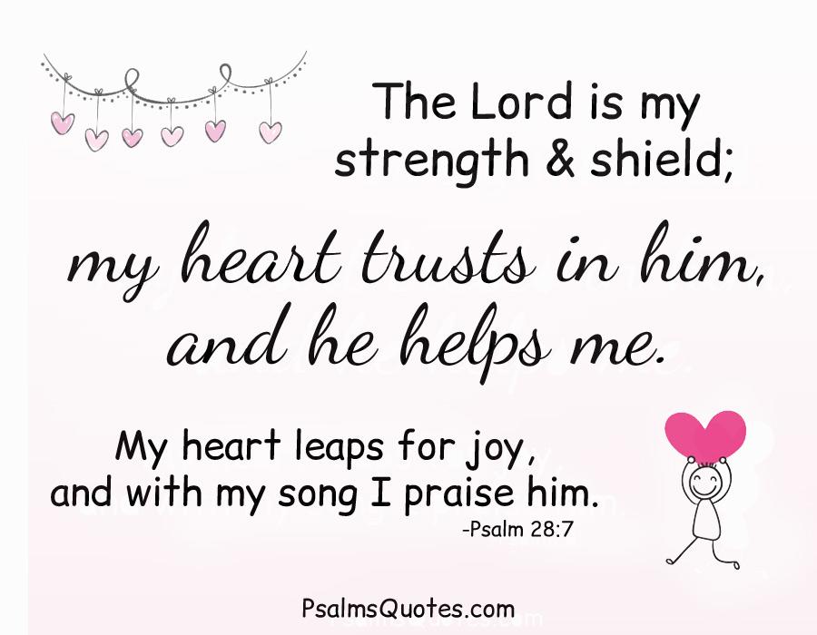 Psalm 28 7 Psalm Of Strength