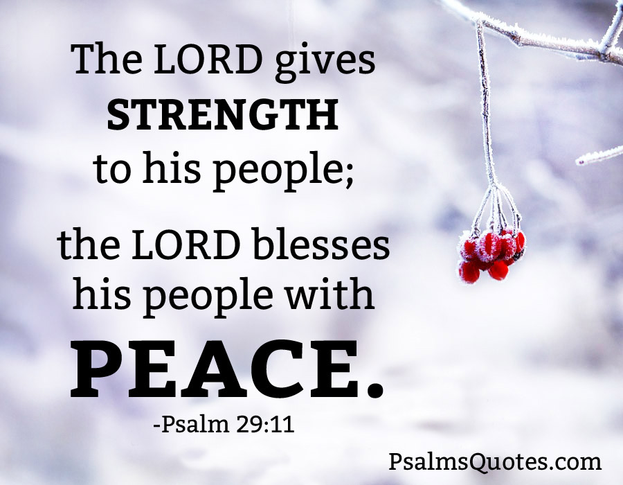Psalm 29:11 - Psalm of Peace - Bible Verse