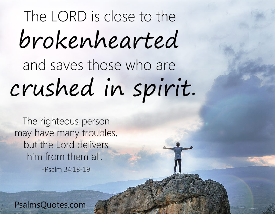 Psalm 34 18 19 Bible Verse On Healing