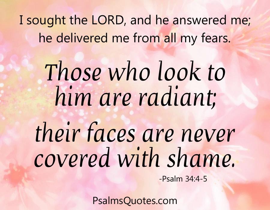 Psalm 34 4 5 Inspirational Psalm Bible Verse