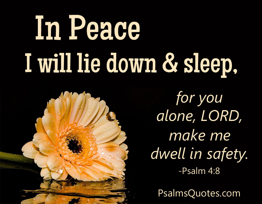 Psalm 4 8 Psalm Of Peace Bible Verse