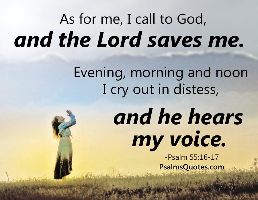 Psalm 55 16 17 Prayer Psalm