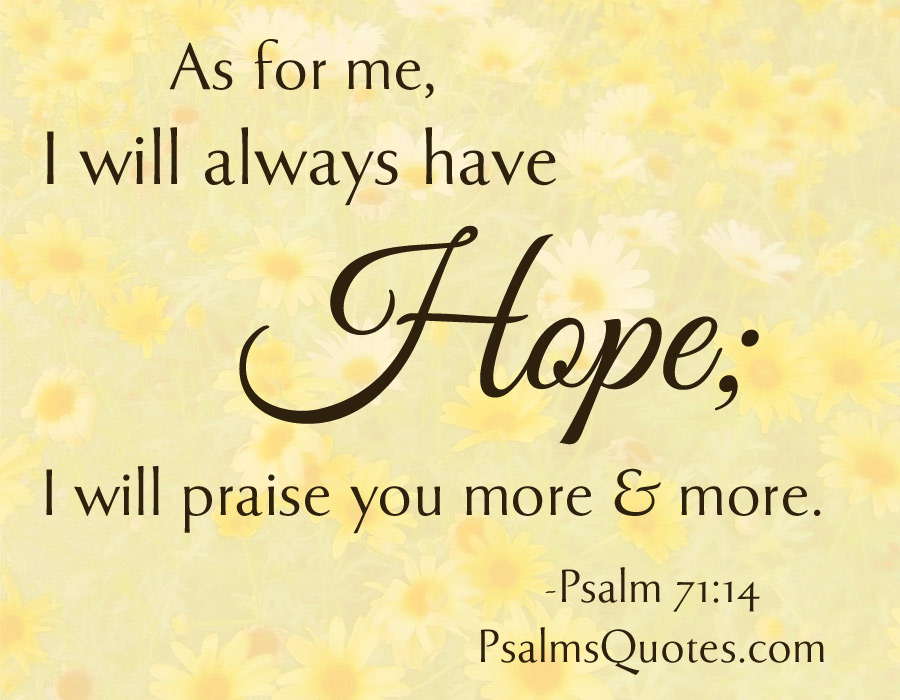 Psalm Quote Psalm 71 14