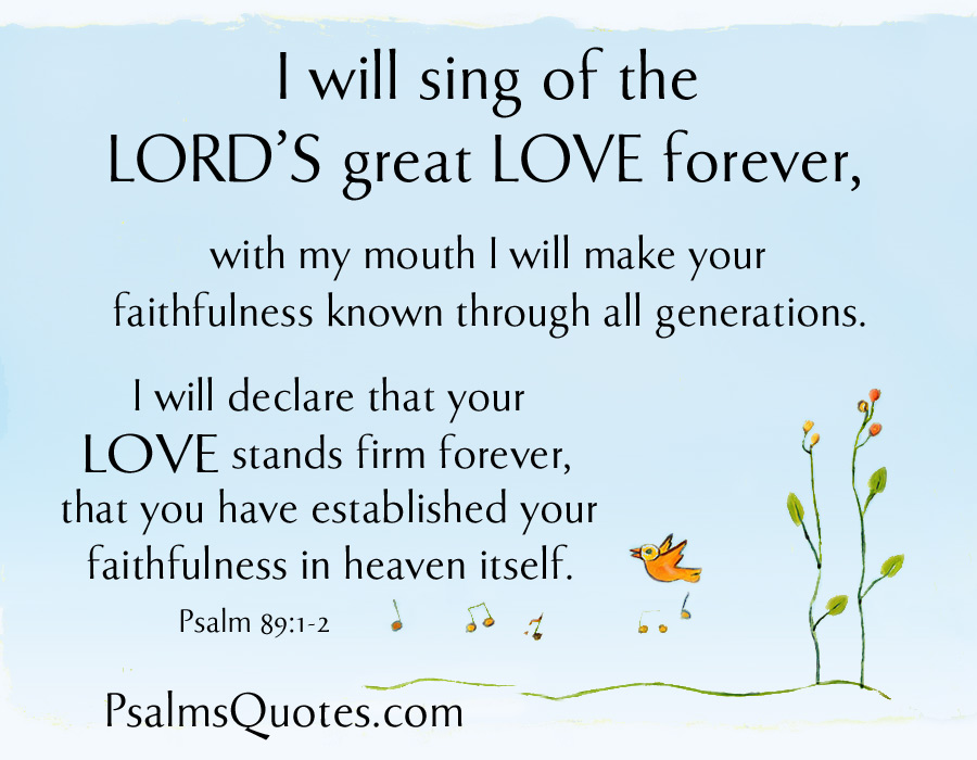 Psalm 89:1-2 - Psalm about Love