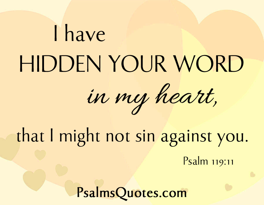 Psalm Quote Psalm 119 11