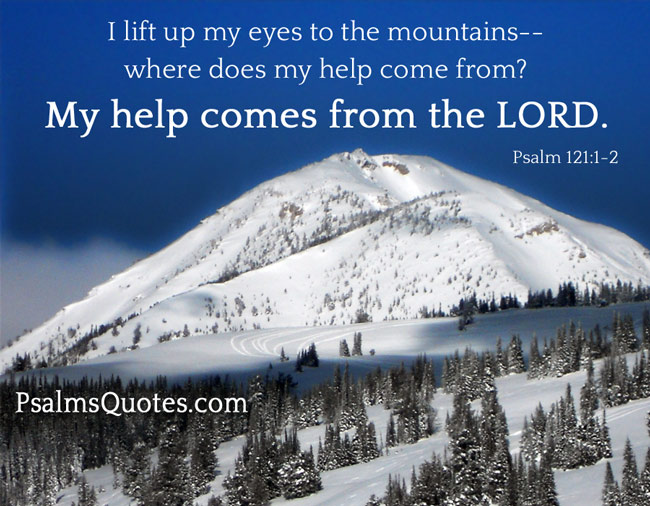 Psalm Quote Psalm 121 1 2